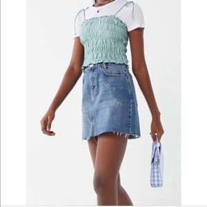 BDG Re-Made Denim Mini Skirt